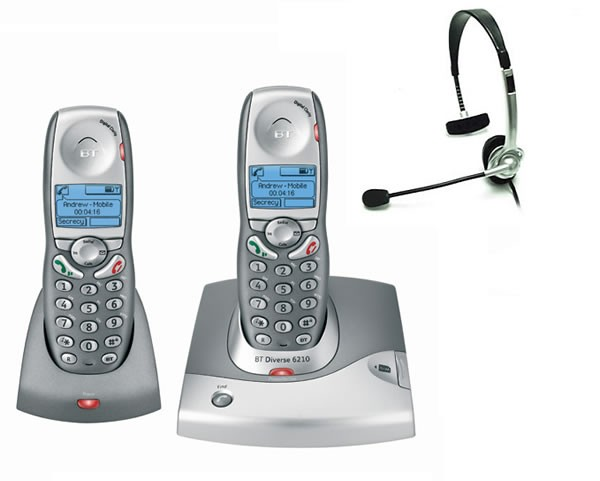 BT Diverse 6210 DECT Twin with FREE NRX Jack Headset