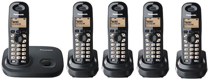 Panasonic KX-TG 7305 EB Quint DECT Cordless Phone