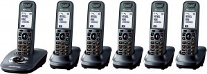 Panasonic KX-TG7526EM DECT Six Pack Cordless Phone with Answering Machine
