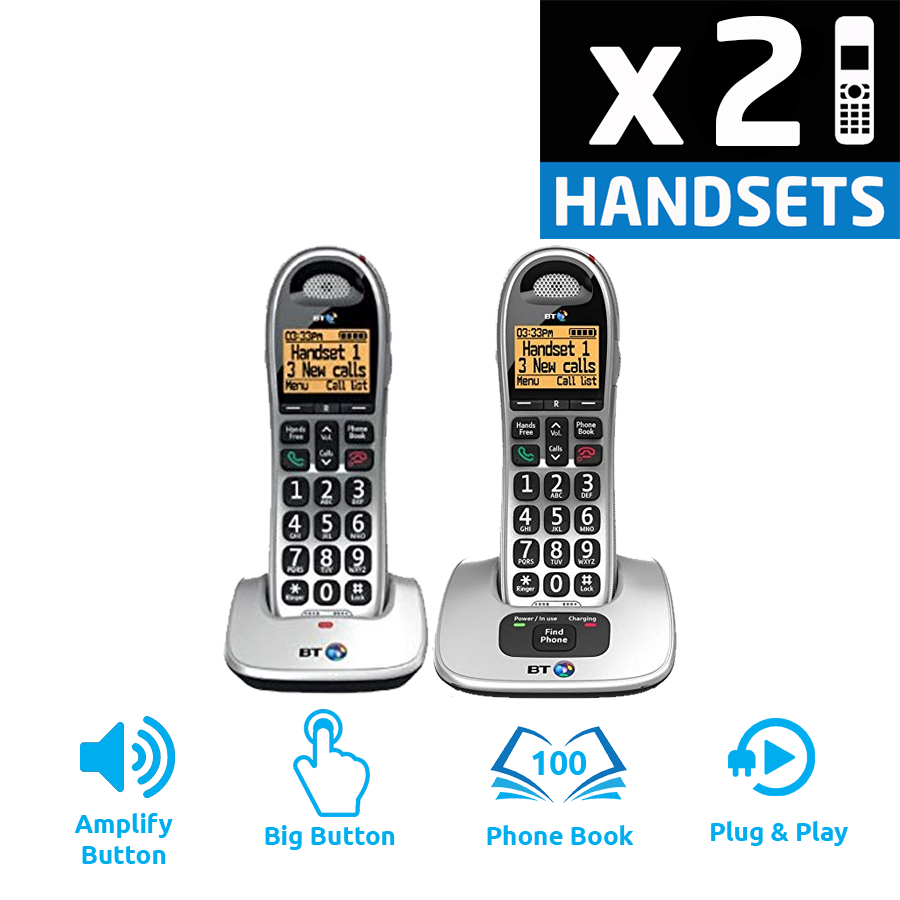 BT 4000 Big Button DECT Cordless Phone - Twin Pack