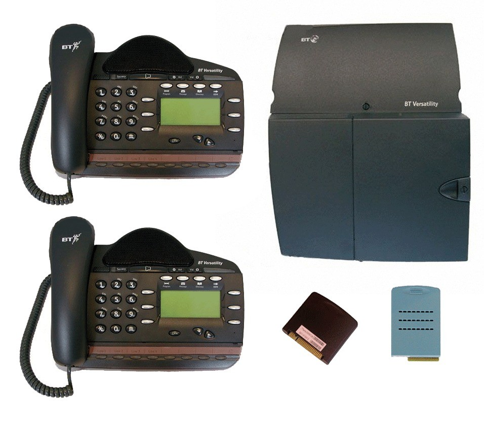 BT Versatility 2 line Analogue Telephone System With 2 x V8 Handsets