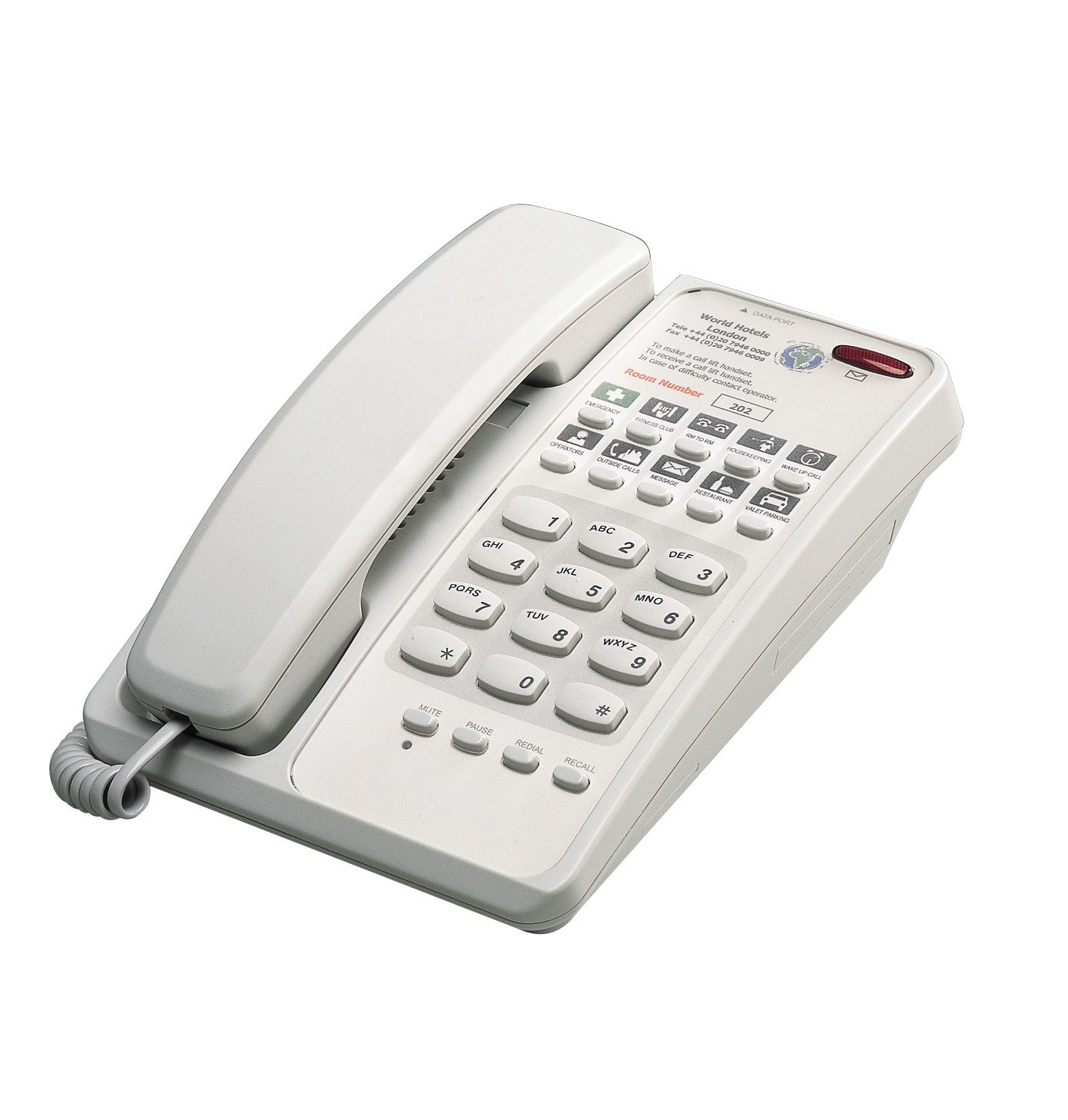 Interquartz Voyager Standard 9281 Business Phone - Light Grey