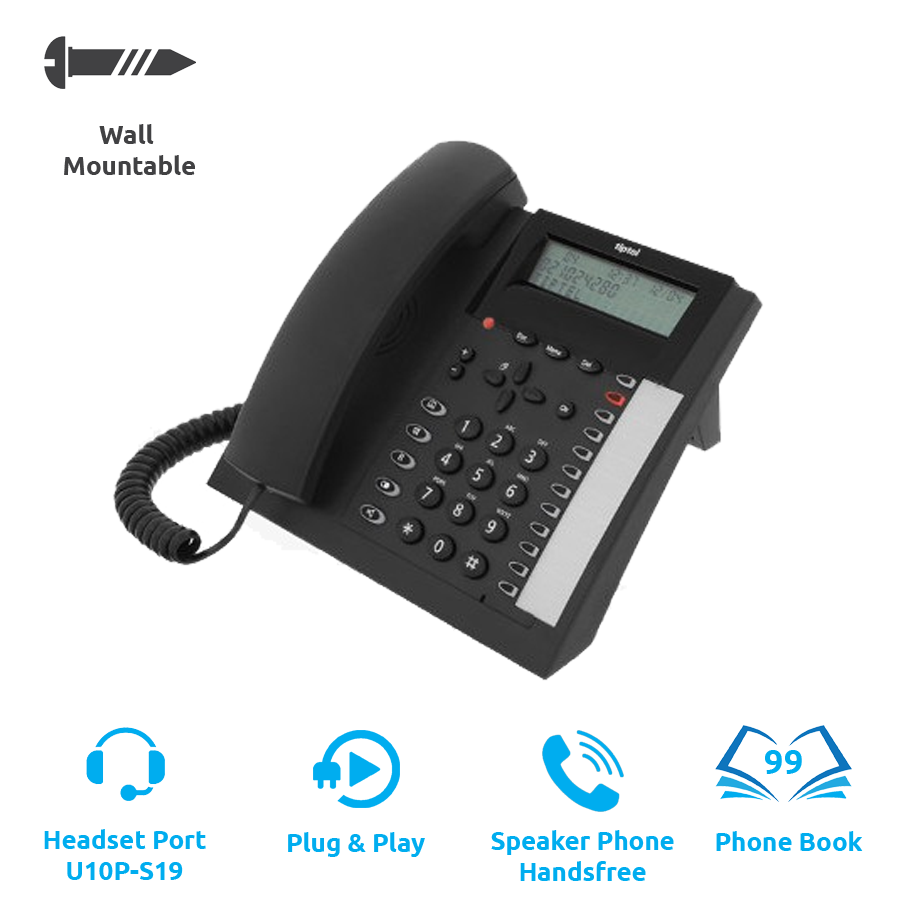 Tiptel 1020 Corded Office Telephone