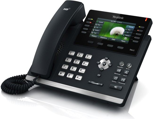 Yealink T46GN Ultra-elegant Gigabit IP Phone