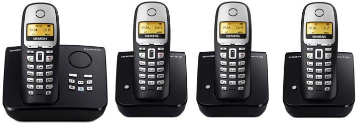 Siemens Gigaset A165 Quad Pack Cordless Phones