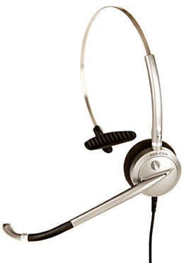 ADD-COM ADD200 Quantum Pro Monaural Noise Cancelling Office Headset (Including Connection Lead)