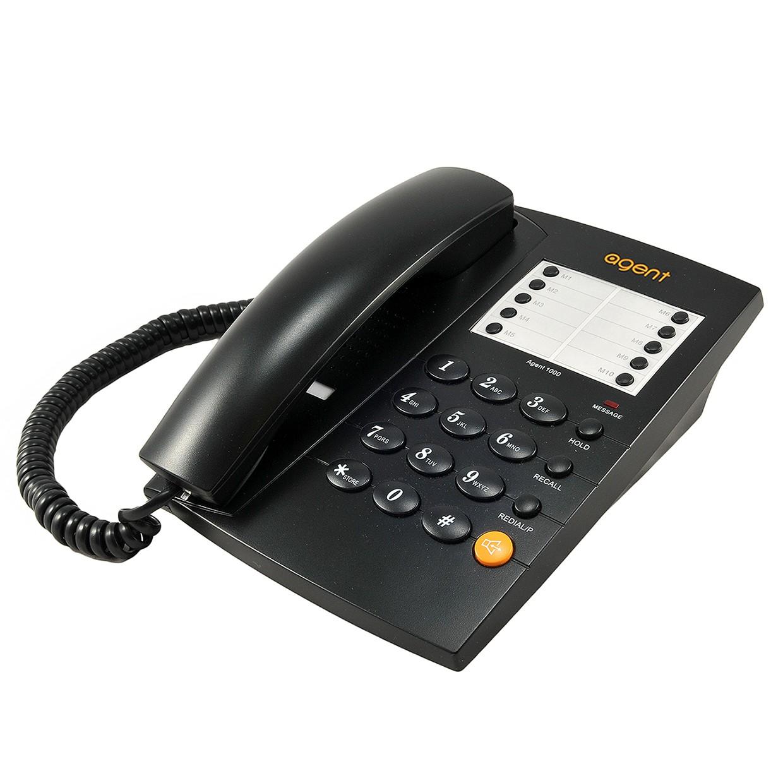 Agent 1000 Corded Telephone - Black