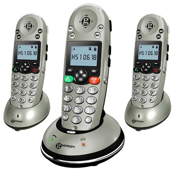 Geemarc Amplidect 350 DECT Cordless Phone - Triple Pack