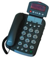 Geemarc Dallas 30 Big Button Telephone (Anthracite)