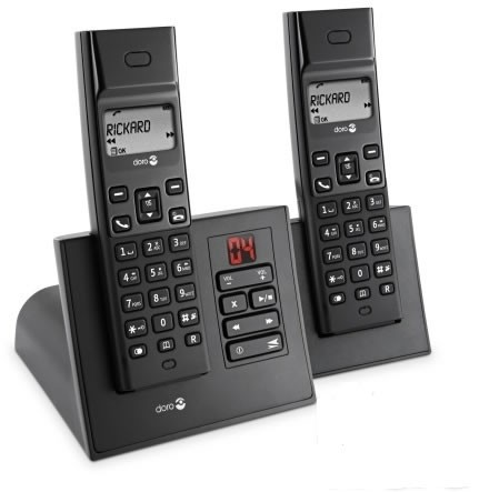 Doro Arc 5R+1 DECT Twin Pack Cordless Phone with Answering Machine