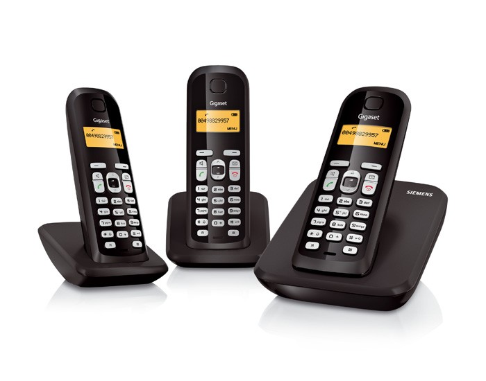 Gigaset AS300 DECT Cordless Phone - Triple Pack