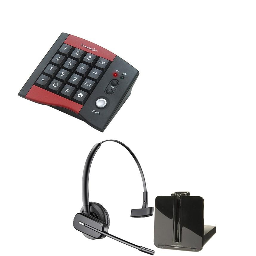 JPL DA-207 Telepad + Plantronics CS540 Cordless Headset Bundle - A Grade