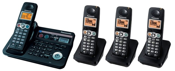 Panasonic Globarange Dual Land and VOIP Cordless Phone BB-GT1540E Quad