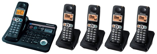 Panasonic Globarange Dual Land and VOIP Cordless Phone BB-GT1540E Quint