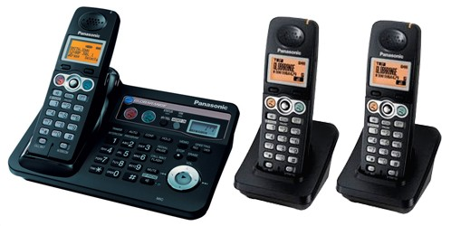Panasonic Globarange Dual Land and VOIP Cordless Phone BB-GT1540E Triple