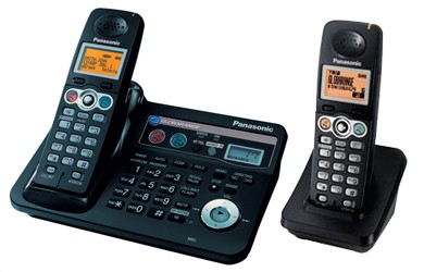 Panasonic Globarange Dual Land and VOIP Cordless Phone BB-GT1540E Twin
