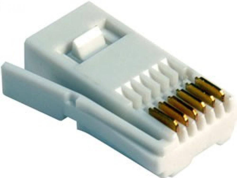 BT 631A 6 Way Right Hand Telephone Plug (25 Bag)