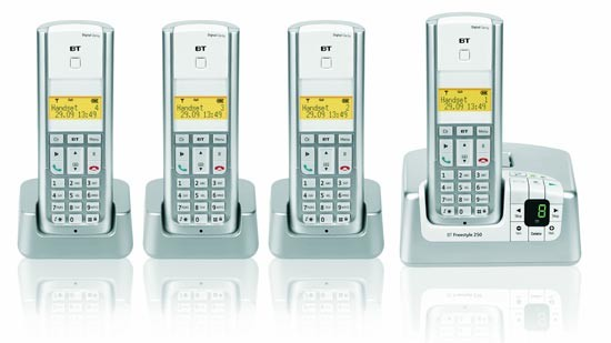 BT Freestyle 250 DECT Quad with answering machine