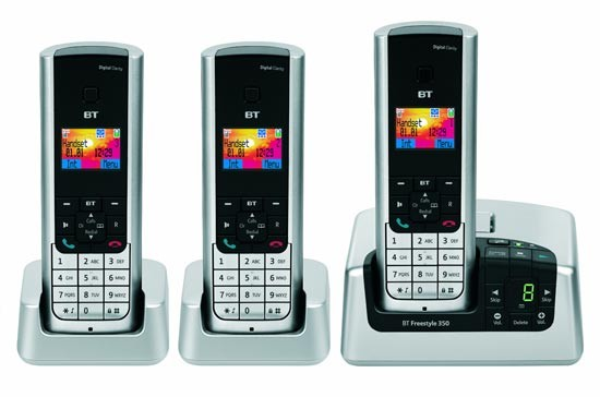 BT Freestyle 350 DECT Triple with Answering Machine
