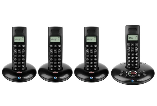 BT Graphite 1500 DECT Quad with Answering Machine