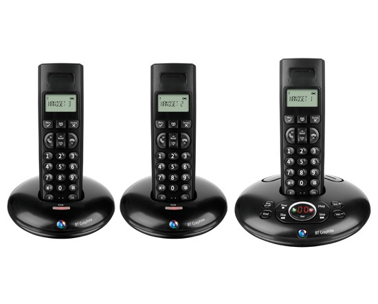 BT Graphite 1500 DECT Triple with Answering Machine
