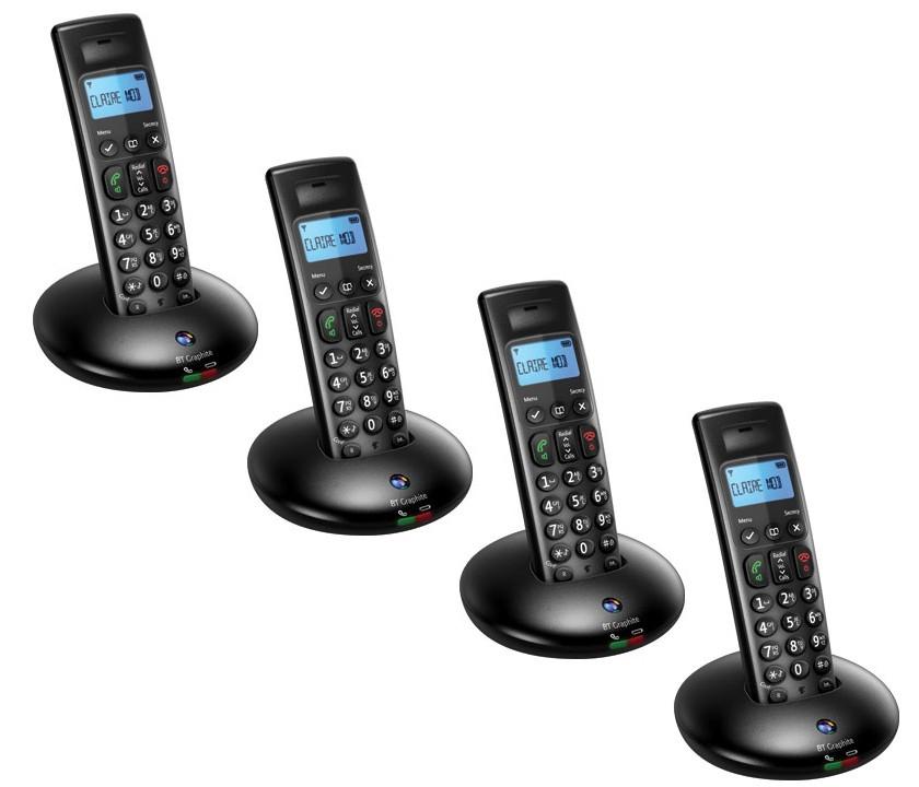 BT Graphite 2100 DECT Cordless Phones - Quad Pack