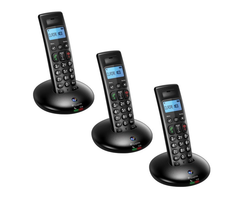 BT Graphite 2100 DECT Cordless Phones - Triple Pack
