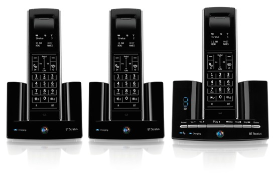 BT Stratus 1500 DECT Cordless Phone with Answering Machine - Triple Pack