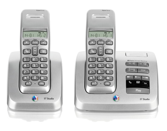 BT Studio 3500 Twin DECT Cordless Phone with Answering Machine