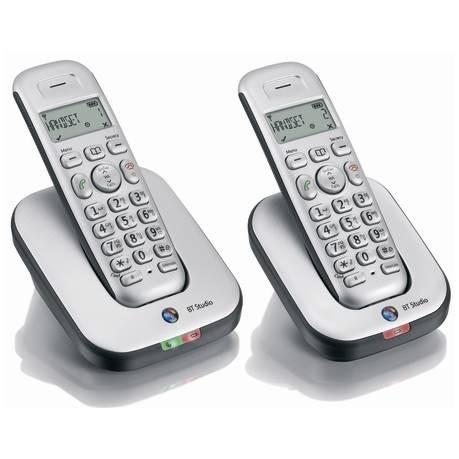 BT Studio 4100 Plus Cordless DECT Phone - Twin Pack