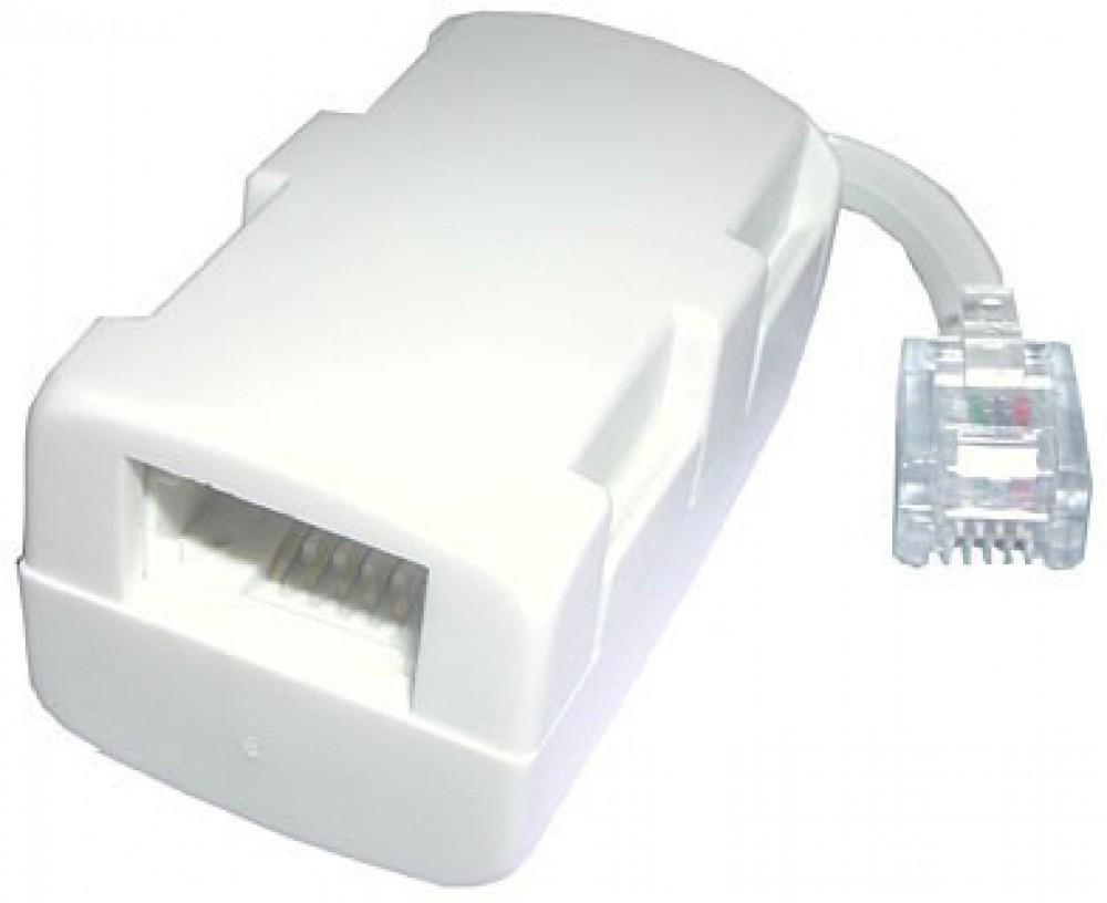 BT Plug To 1 x BT Socket, 1 x RJ11 Socket (2 Way)