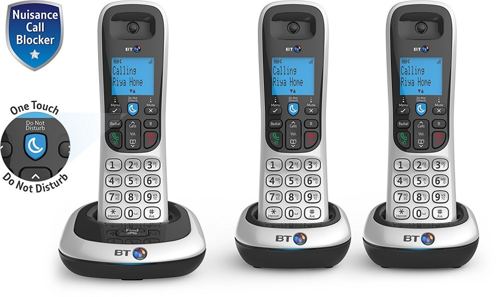 BT 2200 DECT Cordless Phone With Nuisance Call Blocker - Triple