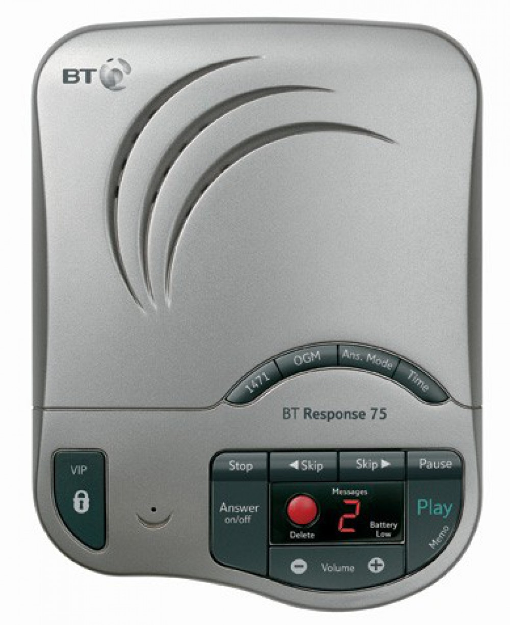 BT Response 75+ Answering Machine