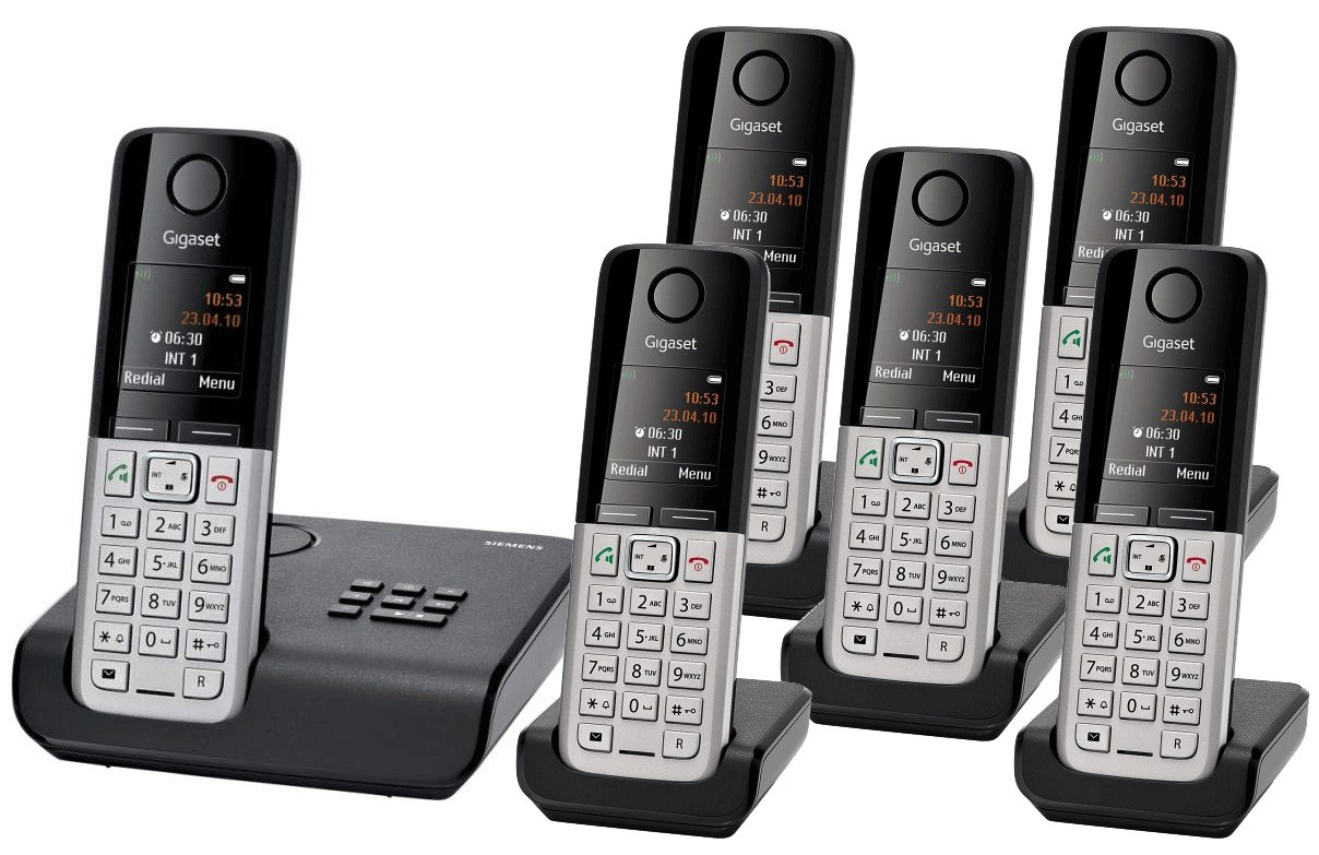 Siemens Gigaset C300A Sextet Cordless DECT Phone With Answering Machine