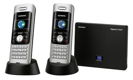 Siemens Gigaset C460 IP Dual Landline & VoIP phone Twin Pack
