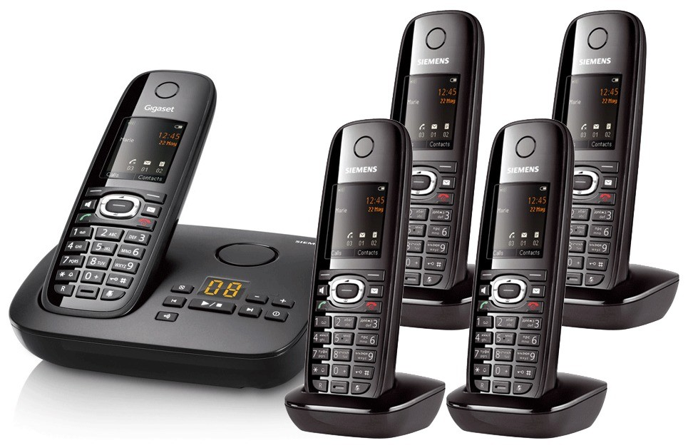 Siemens Gigaset C595 Cordless Telephone Quint Pack