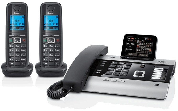 Gigaset DX800A All In One Telephone and Twin A510H Additional Handsets