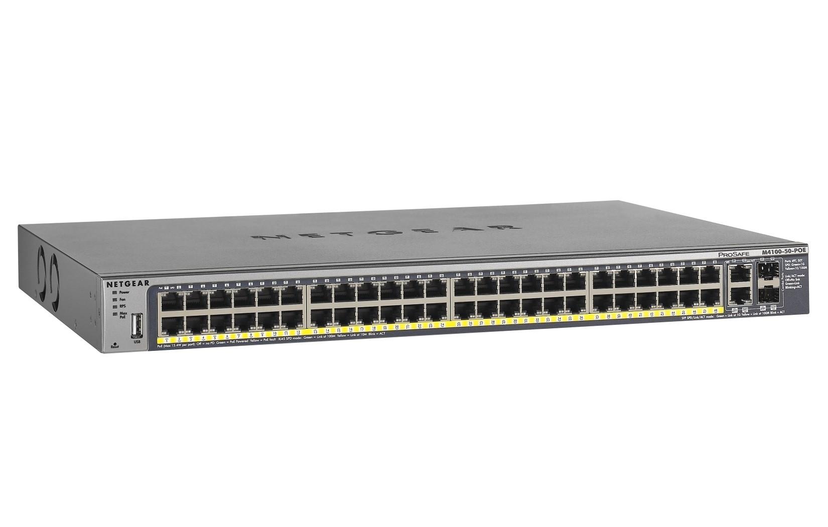 Netgear ProSafe™ M4100 50 PoE Managed Switch