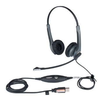 Jabra GN2000 Noise Cancelling Stereo USB Duo Headset - A Grade
