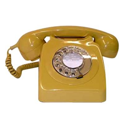 Original GPO 746 Rotary Dial 1970's Telephone - Classic Yellow (Topaz)