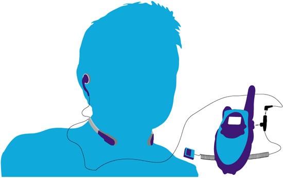 CoolTalk VoiceBox Sport - Radio Throat Microphone - For Single Pin Motorola Radios