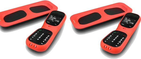 MagicBox Colombo Twin DECT Cordless Phone in Coral