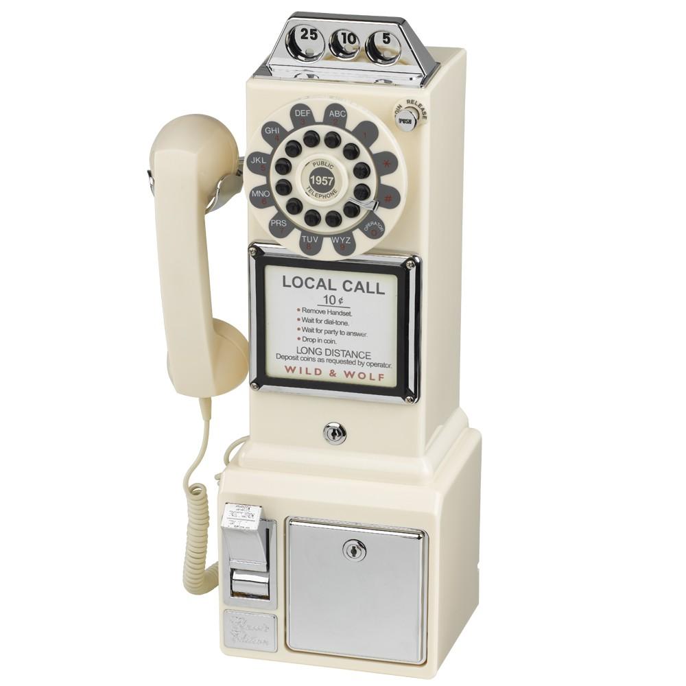 1950's American Diner Phone - Cream - Box Damage