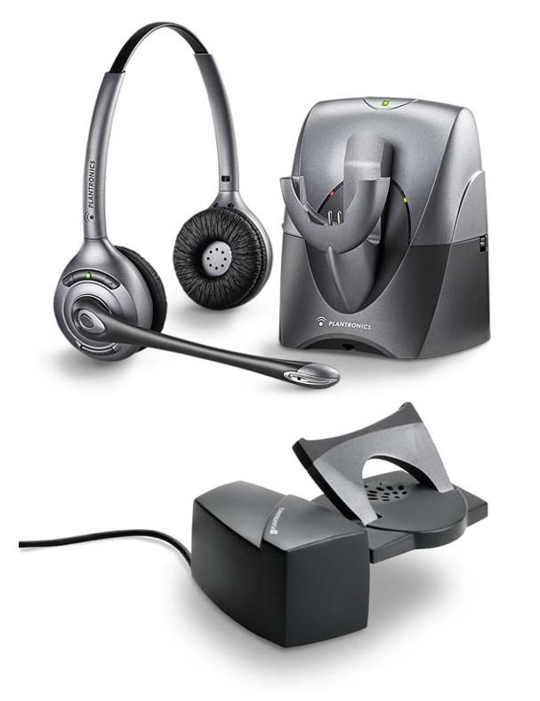Plantronics CS361 (Binaural) Noise Cancelling & Handset Lifter Bundle - A GRADE