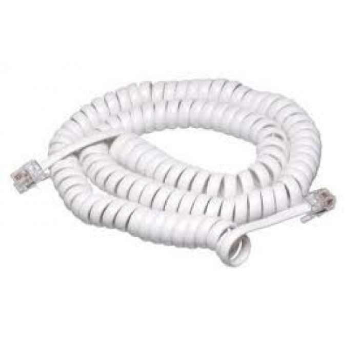 Handset Curly Cord 12ft White