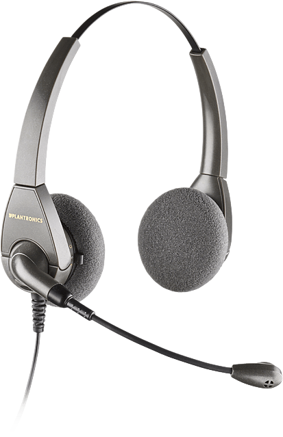 Plantronics H101N Encore Binaural Noise Cancelling Headset - A Grade