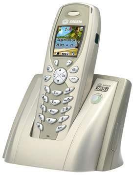 Sagem D85C DECT Cordless Phone with SIM Card Reader