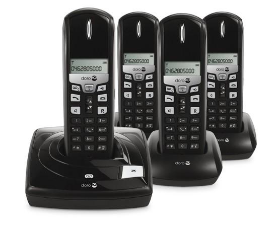 Doro 615r+3 Digital Cordless Phones with Answering Machine - Quad Pack