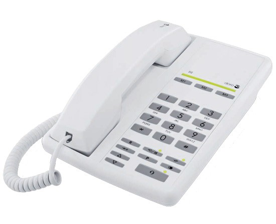 Doro AUB200HSA Easy Clean Telephone with Polygine Protection