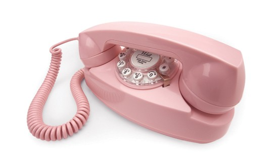 Henry Dreyfuss 1950's Princess Phone - Baby Pink